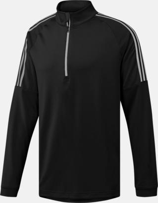 Svart Klassiska Adidas-tröjor med reklamtryck
