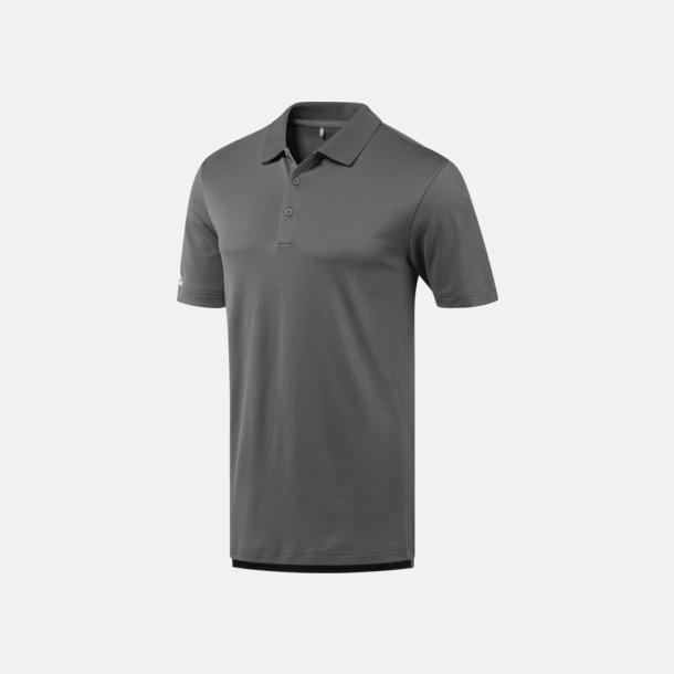 Grey Three Funktionspikéer från Adidas med reklamtryck