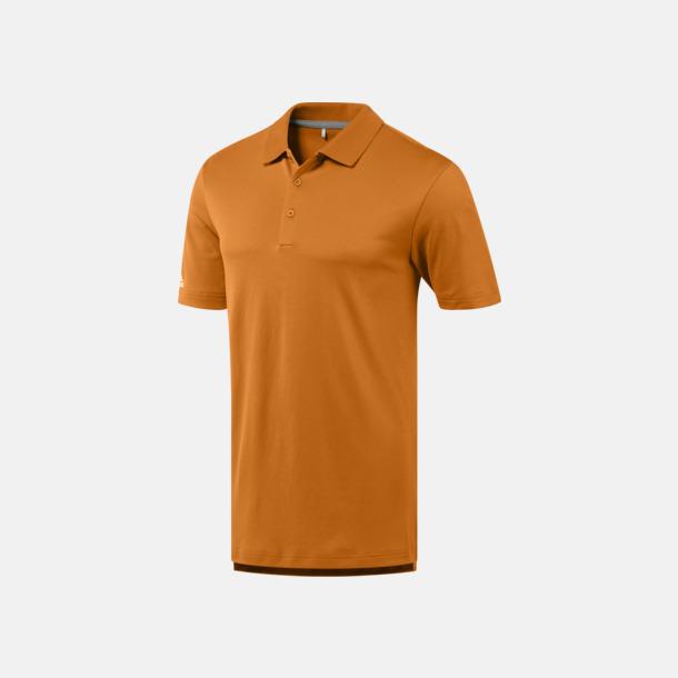 Bright Orange Funktionspikéer från Adidas med reklamtryck