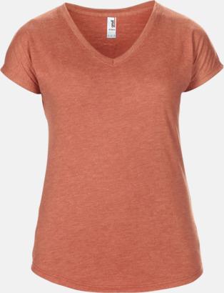 Heather Bronze (dam) Spräckliga t-shirts med reklamtryck