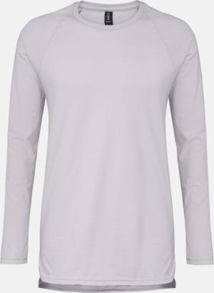 Silver (solid) Långärmade lightweight t-shirts med reklamtryck