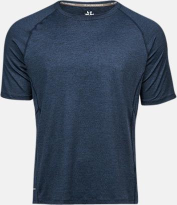 Navy Melange (herr) Funktions t-shirts i herr- & dammodell med reklamtryck