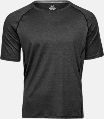 Black Melange (herr) Funktions t-shirts i herr- & dammodell med reklamtryck