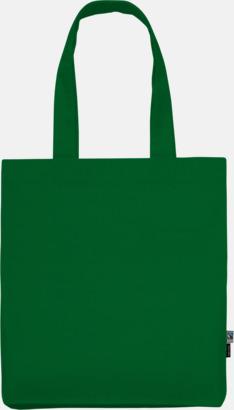Grön (PMS 347U) Kassar av Fairtrade-certifierad, ekologisk bomull med reklamtryck