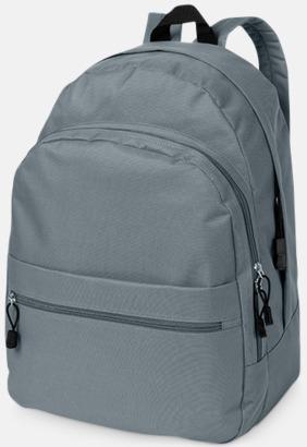 Grå Trendigt designade ryggsäckar med tryck