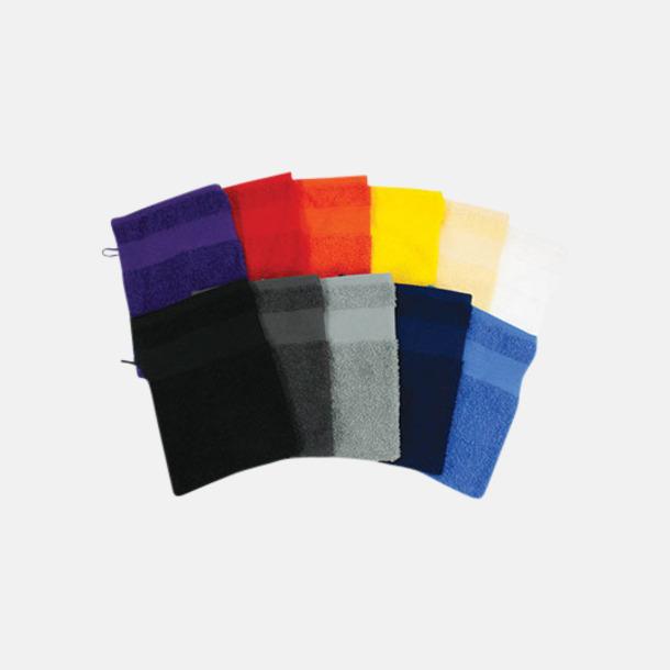 Småhanddukar i många färger med brodyr