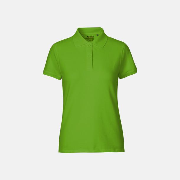 Lime (dam) Fairtrademärkta pikétröjor i herr- och dammodeller med brodyr