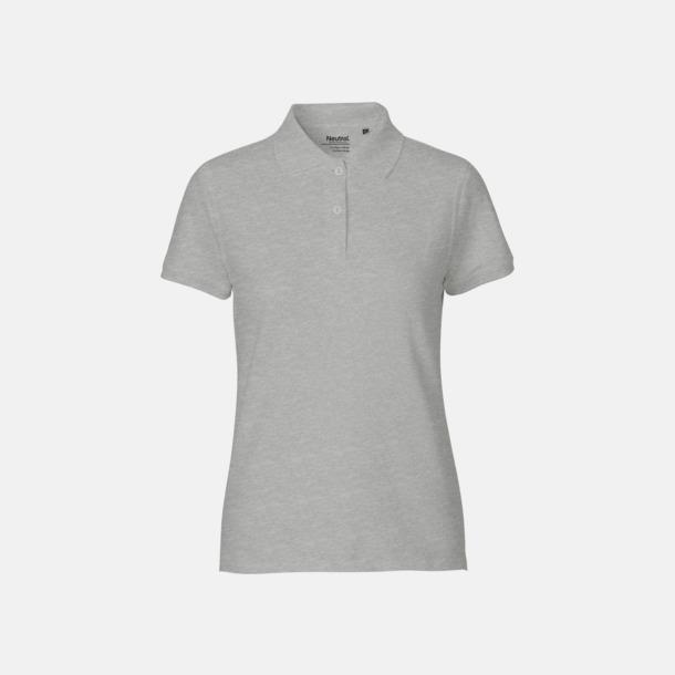 Sports Grey (dam) Fairtrademärkta pikétröjor i herr- och dammodeller med brodyr