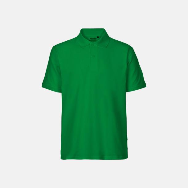 Grön (herr) Fairtrademärkta pikétröjor i herr- och dammodeller med brodyr