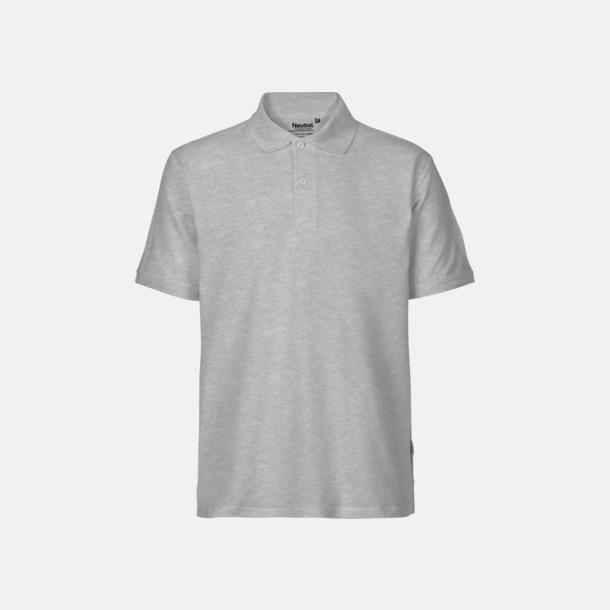 Sports Grey (herr) Fairtrademärkta pikétröjor i herr- och dammodeller med brodyr