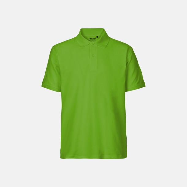 Lime (herr) Fairtrademärkta pikétröjor i herr- och dammodeller med brodyr