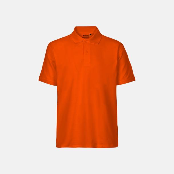 Orange (herr) Fairtrademärkta pikétröjor i herr- och dammodeller med brodyr