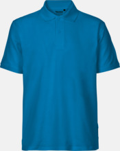 Fairtrademärkta pikétröjor i herr- och dammodeller med brodyr