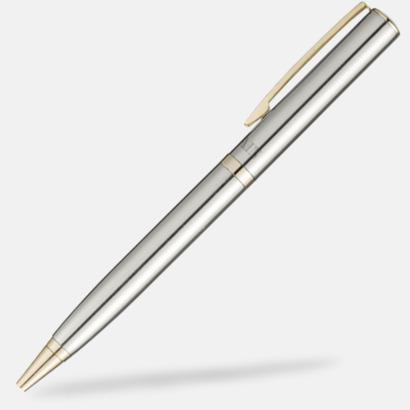 Guld Förgylld bläckpenna från Balmain med reklamtryck