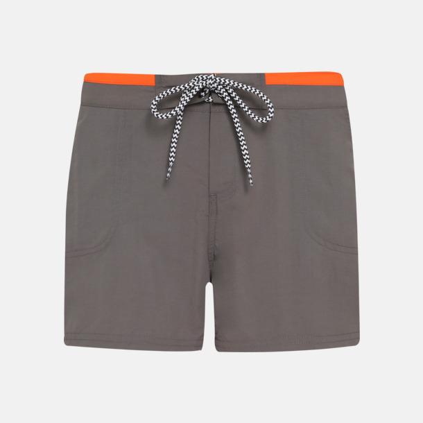 Slate/Orange (dam) Badbyxor för herr och dam med reklamtryck