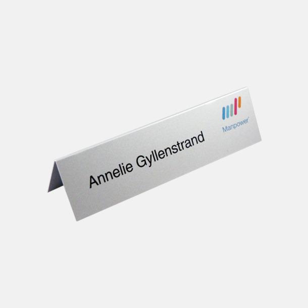 Bordsskyltar i aluminium med eget reklamtryck