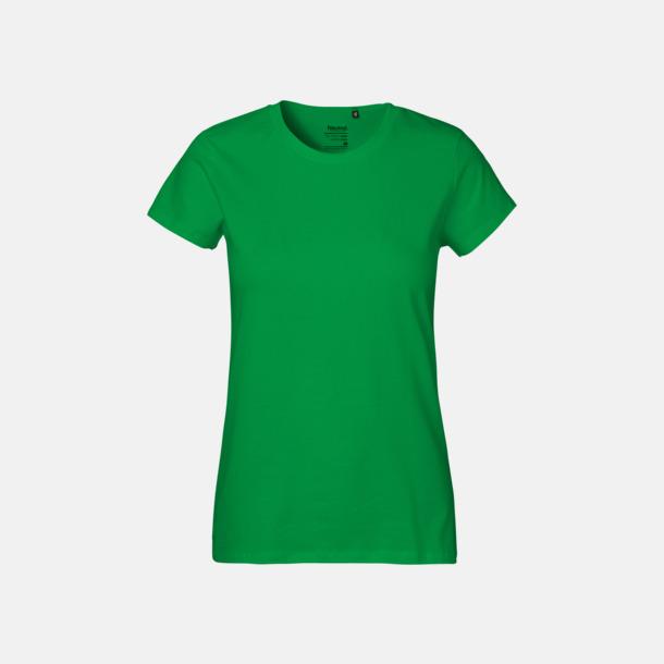 Grön (dam) Klassiska t-shirts i ekologisk fairtrade-bomull med tryck