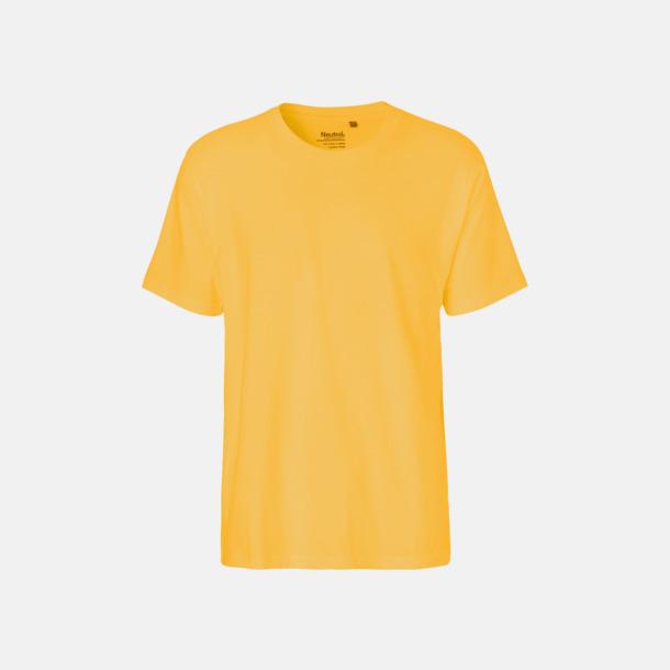 Gul (herr) Klassiska t-shirts i ekologisk fairtrade-bomull med tryck