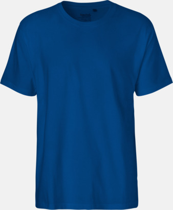 Herr Royal (PMS 293C) Klassiska t-shirts i ekologisk fairtrade-bomull med tryck