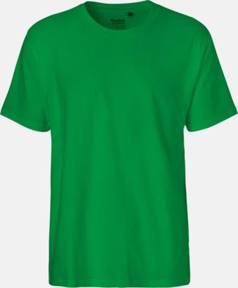 Herr Grön (PMS 347U) Klassiska t-shirts i ekologisk fairtrade-bomull med tryck