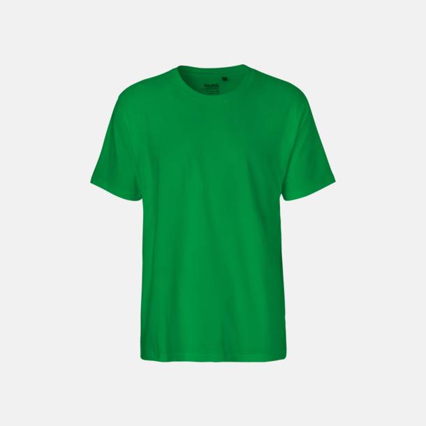 Grön (herr) Klassiska t-shirts i ekologisk fairtrade-bomull med tryck