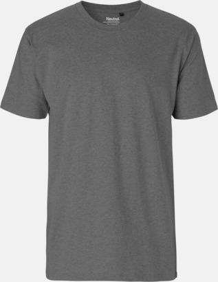 Herr Dark Heater Melange Klassiska t-shirts i ekologisk fairtrade-bomull med tryck