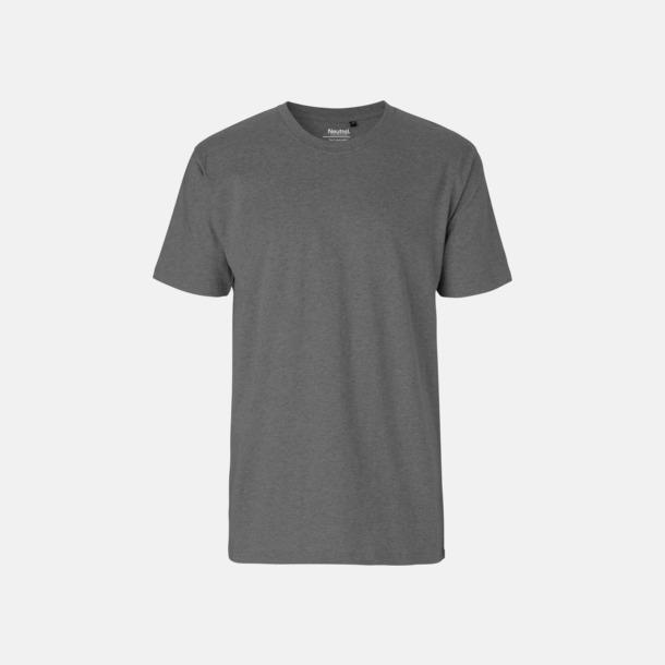 Dark Heater (herr) Klassiska t-shirts i ekologisk fairtrade-bomull med tryck