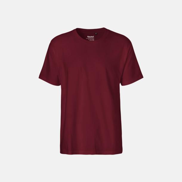 Bordeaux (herr) Klassiska t-shirts i ekologisk fairtrade-bomull med tryck