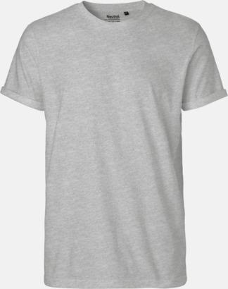 Sport Grey Melange (Herr) Eko & Fairtrade-certifierade t-shirts med roll up sleeves - med reklamtryck