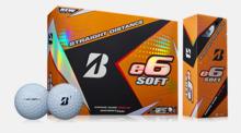 Goldbollar från Bridgestones E6-serie med reklamtryck