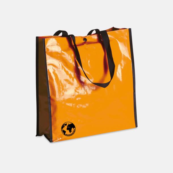 Orange Biologiskt nedbrytbara shoppingbagar med reklamtryck