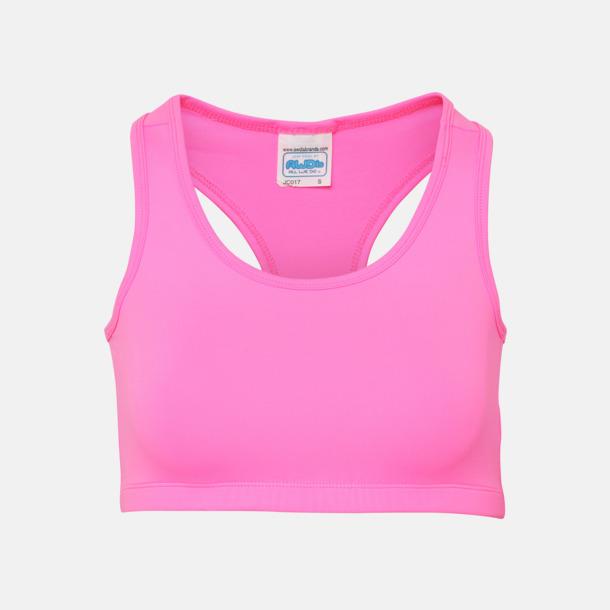 Electric Pink Sport-BH:ar med reklamtryck