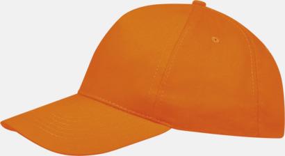 Orange (vuxen) Kepsar för vuxna & barn - med reklamlogo