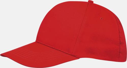 Röd (vuxen) Kepsar för vuxna & barn - med reklamlogo