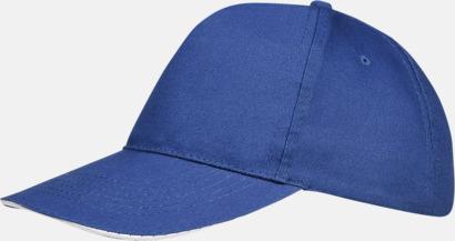 Royal Blue/Vit (vuxen) Kepsar för vuxna & barn - med reklamlogo