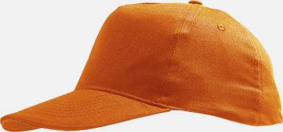 Orange (barn) Kepsar för vuxna & barn - med reklamlogo