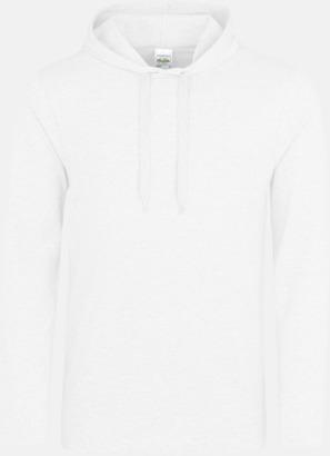 Arctic White Huvtröjor i t-shirt design med reklamtryck