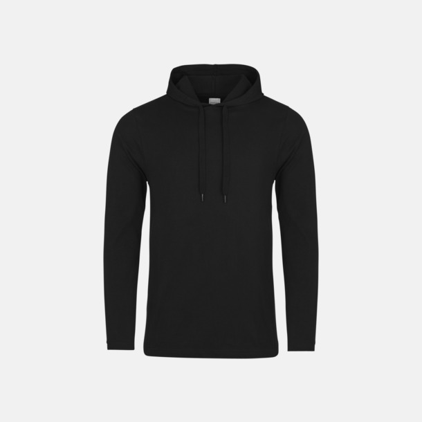 Jet Black Huvtröjor i t-shirt design med reklamtryck