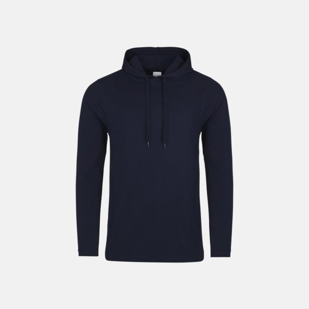 Oxford Navy Huvtröjor i t-shirt design med reklamtryck