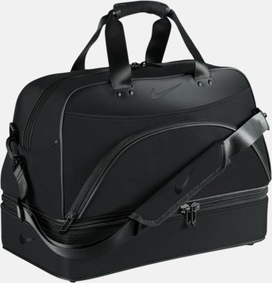 Svart Sport- & resväska från Nike med reklamtryck