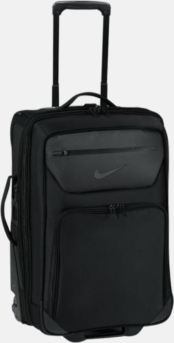 Svart Exklusiva Nike resväskor med reklamtryck