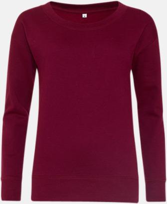 Burgundy Fina & billiga damtröjor med reklamtryck