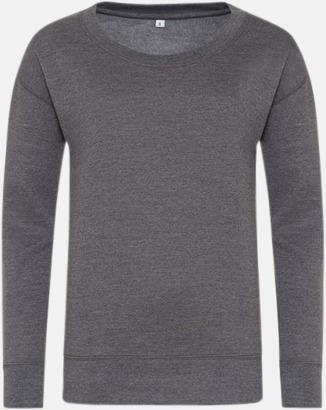 Charcoal (heather) Fina & billiga damtröjor med reklamtryck