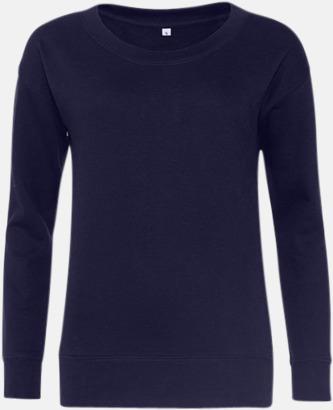 Oxford Navy Fina & billiga damtröjor med reklamtryck