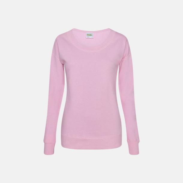 Baby Pink Fina & billiga damtröjor med reklamtryck