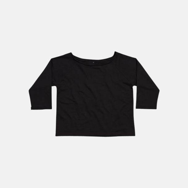 Svart Eko 80-tals tröjor med reklamtryck