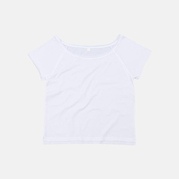 Vit Klippta eko t-shirts med reklamtryck