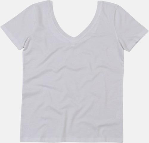 Dam -t-shirts med v- OCH u-hals - med reklamtryck