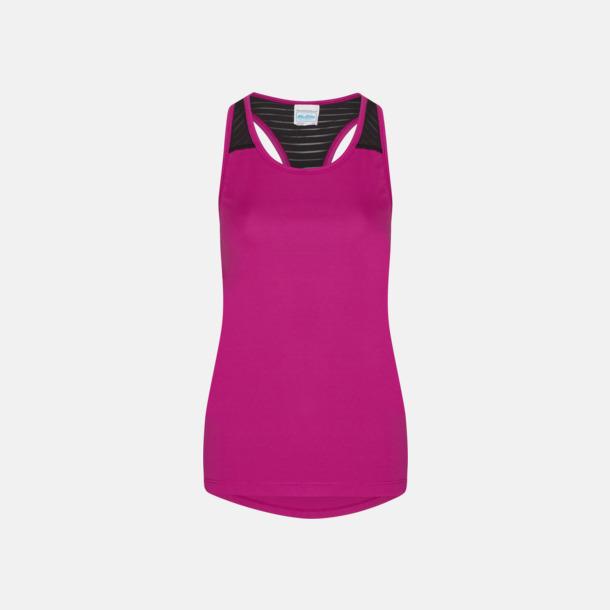 Hot Pink/Jet Black Sportiga damlinnen med reklamtryck