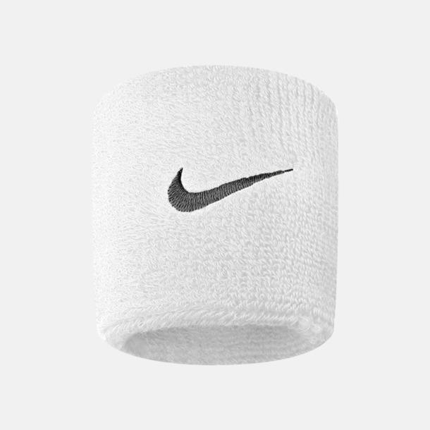 Vit / Svart Armsvettband från Nike med reklamlogo